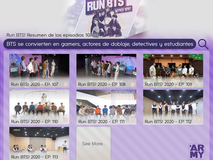 Run BTS! Resumen de los episodios 107-113 BTS se convierten en gamers, actores de doblaje, detective