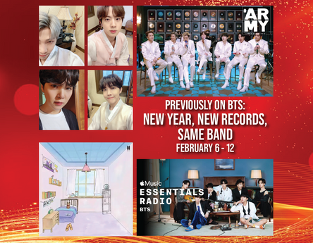 Previously on BTS: New Year, New Records, Same Band February 6 - 12