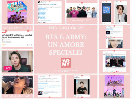 PREVIOUSLY ON BTS 21-27 MARZOBTS E ARMY: UN AMORE SPECIALE!
