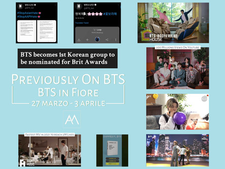 Previously on BTS: BTS in Fiore 27 marzo - 3 aprile