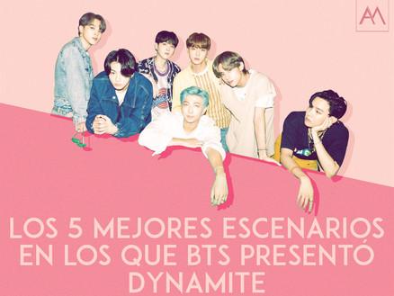 Los 5 mejores escenariosen los que BTS presentó Dynamite