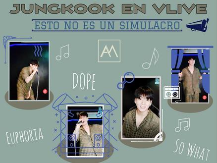 Jungkook en VLive: esto no es un simulacro
