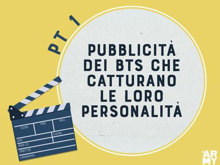 PUBBLICITÀ DEI BTS CHE CATTURANO LE LORO PERSONALITÀ PT. 1