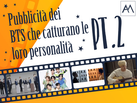 PUBBLICITÀ DEI BTS CHE CATTURANO LE LORO PERSONALITÀ PT. 2