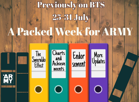 PREVIOUSLY ON BTS: A PACKED WEEK FOR ARMY - JULY 25-31