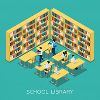 education-middle-school-library-isometri