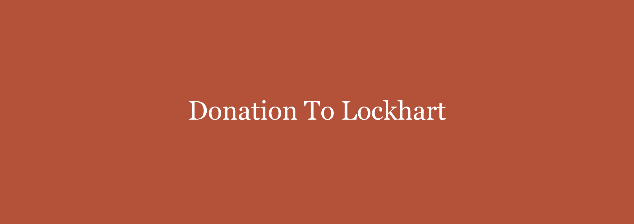 Donations To Lockhart