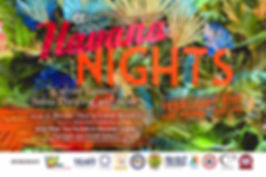 Havana Nights 2020 flyer with sponsors .