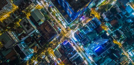 Luftbild einer Stadt