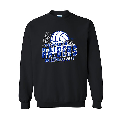 Raider Volleyball Gildan Crew Sweatshirt