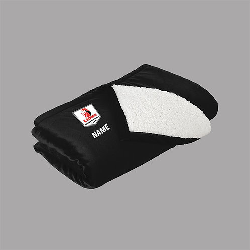 Lions Rugby Sherpa Blanket