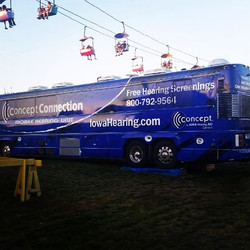 Concept of Iowa Hearing Bus Wrap