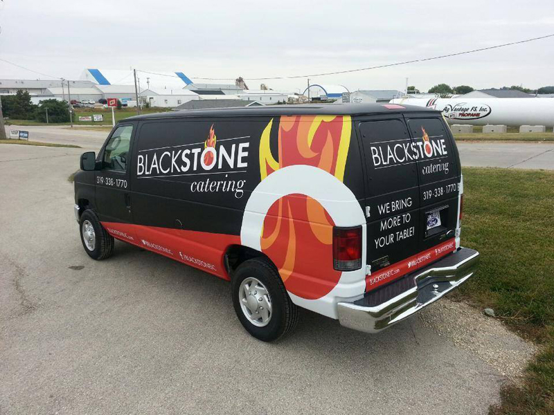 Blackstone Catering Van Wrap