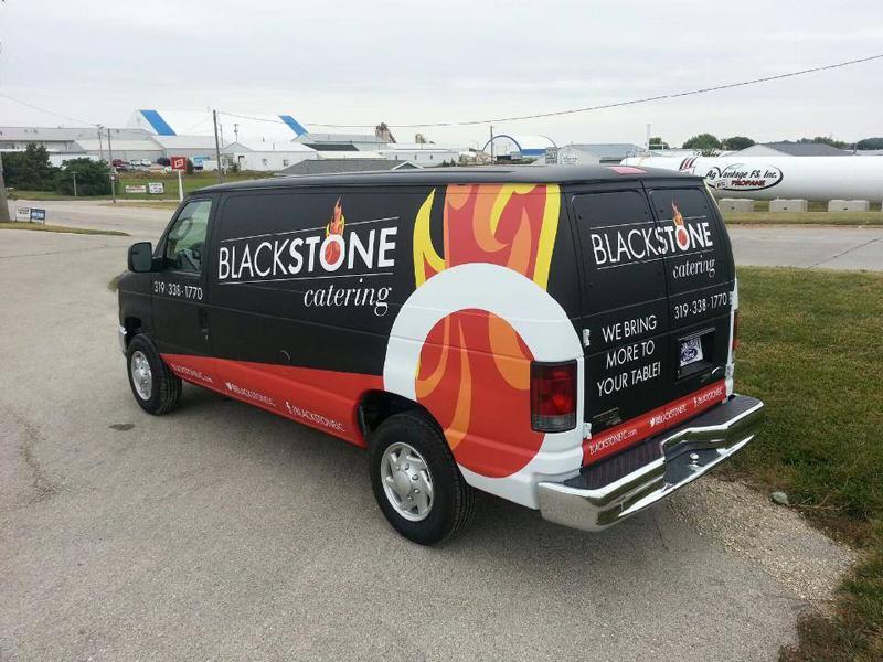 Blackstone Catering Van Wrap