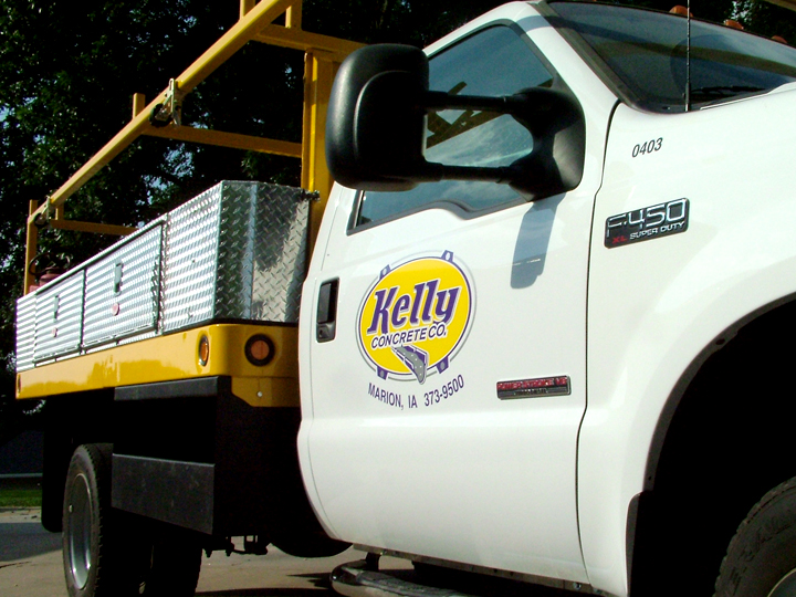 Kelly Concrete Truck Graphics