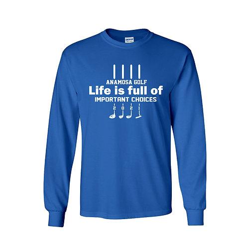 Anamosa Golf Lg Slv T-Shirt - Blue