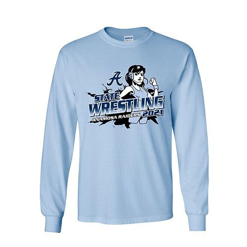 Anamosa Girls State Wrestling Lg Slv T-Shirt