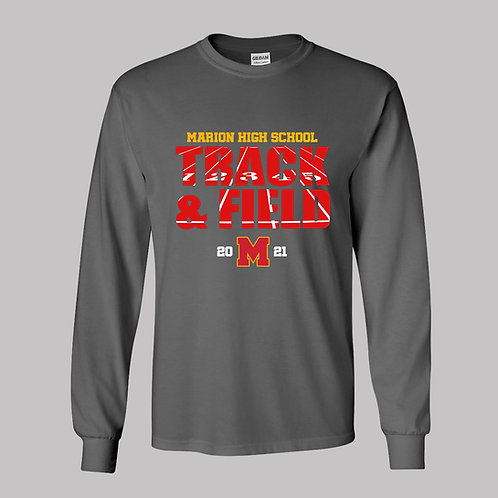Marion Track Gildan Lg Slv T-Shirt