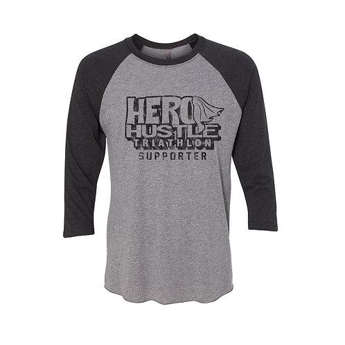 Hero Hustle Triblend 3/4 Sleeve Raglan Tee