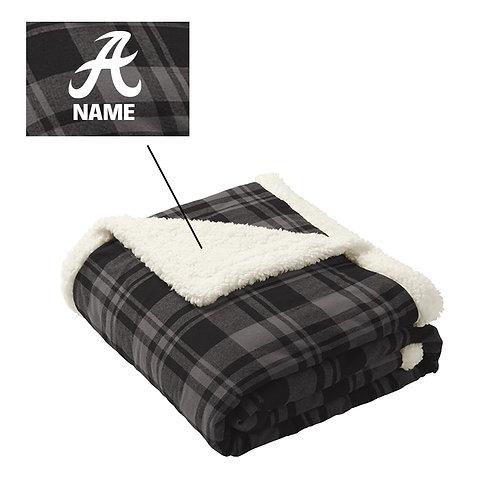 Raider Flannel Sherpa Blanket