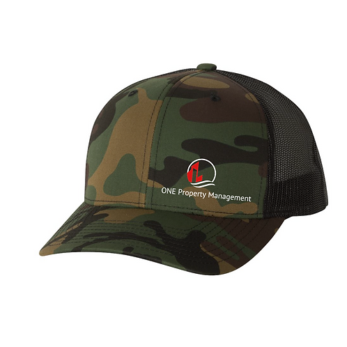 One Property Adjustable Camo Cap