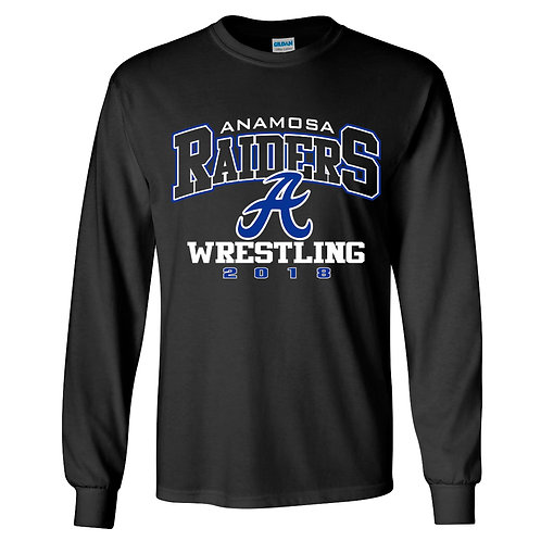 Raider Wrestling Lg Slv T-Shirt