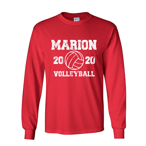 Marion Volleyball Lg Slv T-Shirt