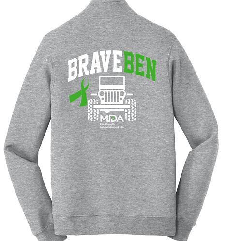 Brave Ben Qtr Zip Sweatshirt
