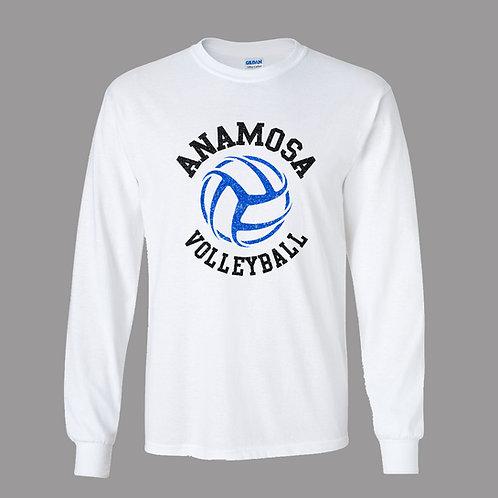 AVC White Lg Slv T-Shirt