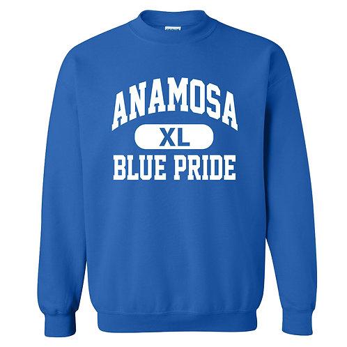 Anamosa Blue Pride Crew Sweatshirt