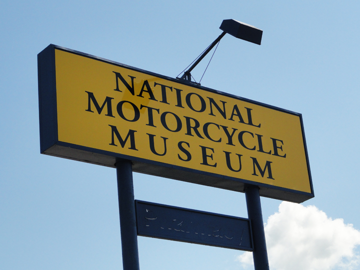 National Motorcycle Museum Sign