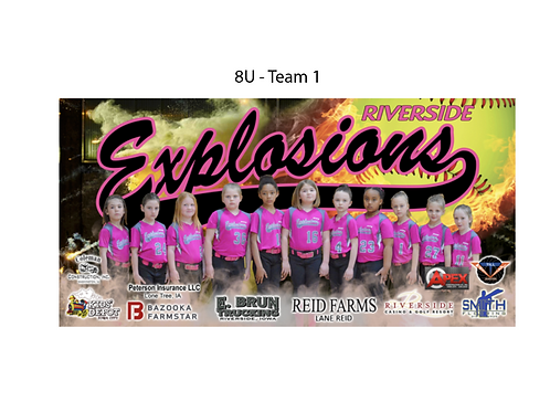 """Explosions 18""""x12"""" Team Poster"""