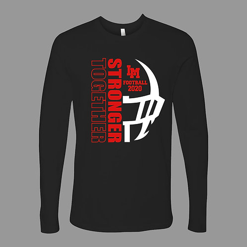 Linn-Mar Football Lg Slv T-Shirt (Black)
