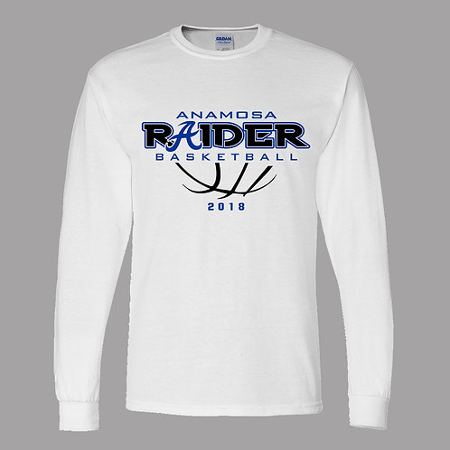 Raider Basketball Lg Slv Dry Blend T-Shirt