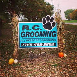 R.C. Grooming Sign
