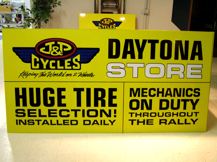 J&P Cycles Daytona Sign