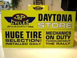 J&P Cycles Daytona Sign