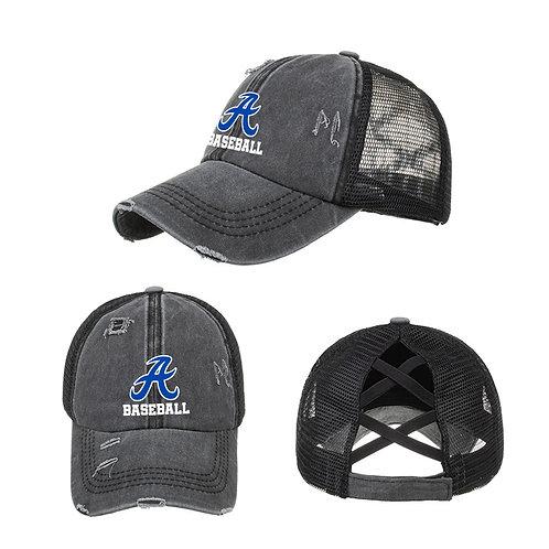 Anamosa Baseball Distressed Ponytail Cap
