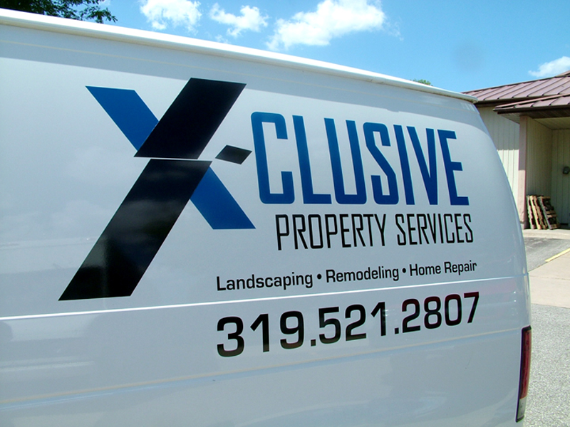 Xclusive Property Van Graphics