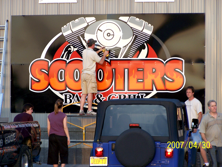 Scooters Bar & Grill Sign