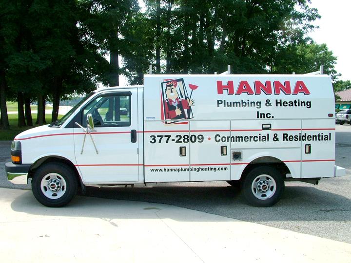 Hanna Plumbing Cargo Van Graphics