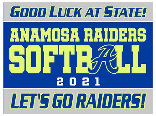 Anamosa Softball State Yard Sign