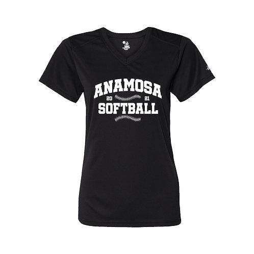 Anamosa Softball Ladies Perf. V-Neck
