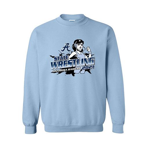 Anamosa Girls State Wrestling Crew Sweatshirt