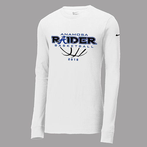 Raider Basketball Nike Lg Slv T-Shirt