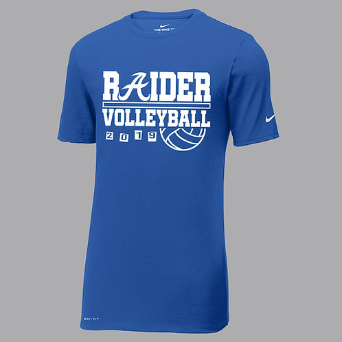 Raider Volleyball Nike Dri-Fit Tee