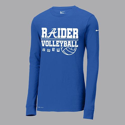 Raider Volleyball Nike Dri-Fit Lg Slv