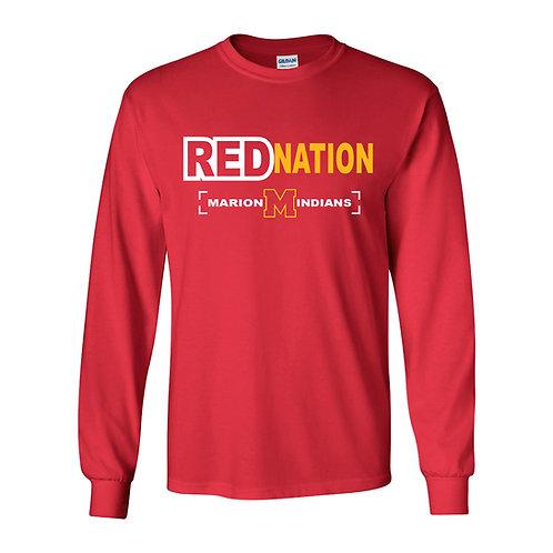 Marion Red Nation Lg Slv T-Shirt