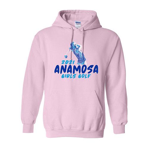 Anamosa Golf Hoodie - Pink