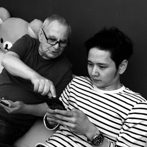 With ToR+ in studio (Bangkok)